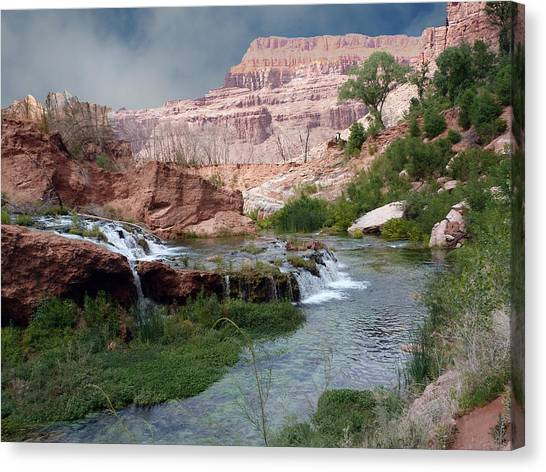 Unspoiled Waterfall Canvas Print