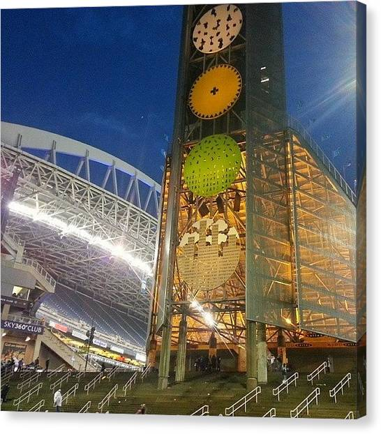 Seattle Seahawks Canvas Print - Until Next Week.... #seahawks #seattle by Nathan  Brend