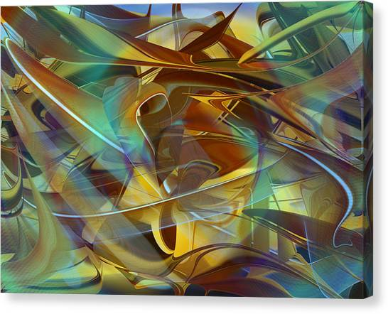 Abstract Number Fifteen In Blue Canvas Print