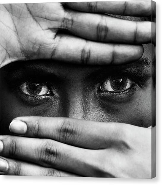 Fingers Canvas Print - Untitled by Ajie Alrasyid