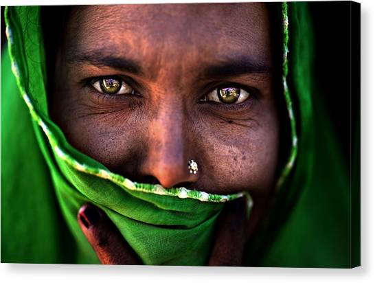 Hidden Face Canvas Print - Untitled by Alessandro Bergamini