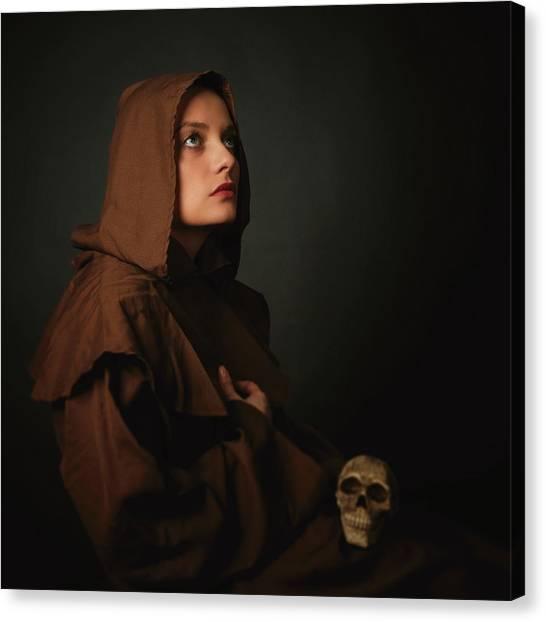 Monks Canvas Print - Untitled by Alexandra Fira
