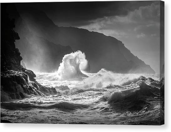 Ocean Cliffs Canvas Print - Untitled by Ali Rismanchi