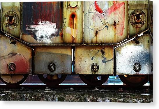 Freight Trains Canvas Print - Untitled by Anna Niemiec