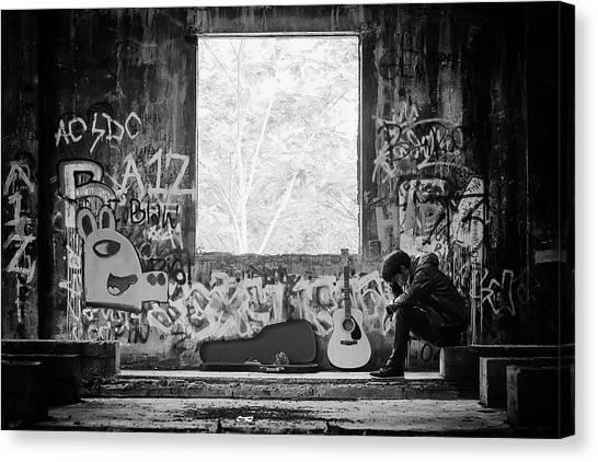 Graffiti Canvas Print - Untitled by Bayu Perwiranegara