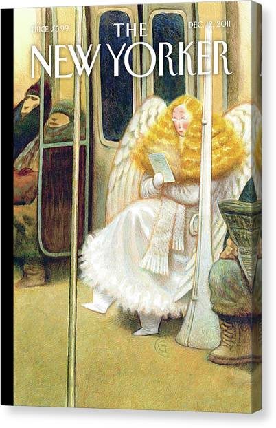 Angel Canvas Print - New Yorker December 12th, 2011 by Carter Goodrich