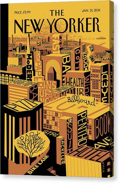 New Yorker January 31st, 2011 Canvas Print