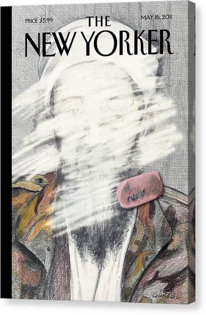 Terrorist Canvas Print - New Yorker May 16th, 2011 by Gurbuz Dogan Eksioglu