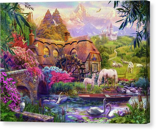 Floral Digital Art Canvas Print - Light Palace by Jan Patrik Krasny