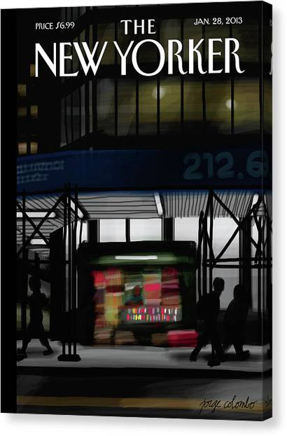 2013 Canvas Print - Newsstand by Jorge Colombo