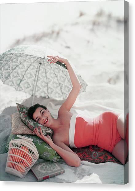 Vogue July 1st, 1954 Canvas Print