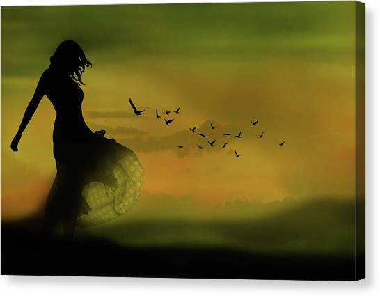 Dress Canvas Print - Untitled by Leyla Emektar La_