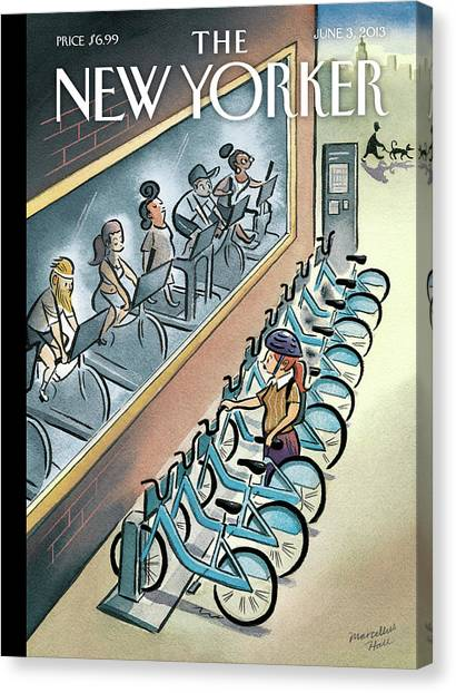 Gym Canvas Print - New Yorker June 3rd, 2013 by Marcellus Hall