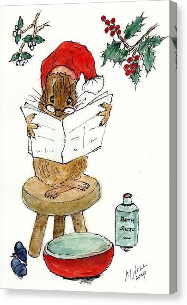 Mistletoe Canvas Print - Santa by Nell Hill