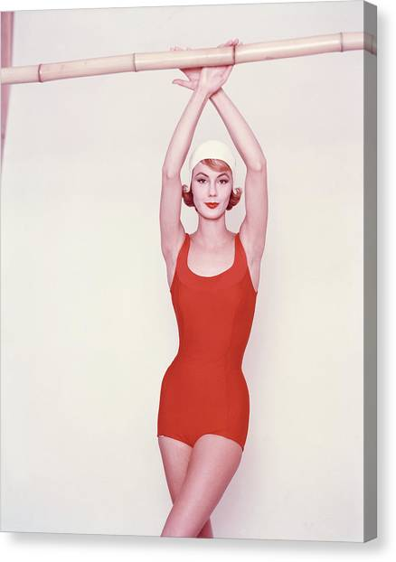 Vogue January 1st, 1958 Canvas Print