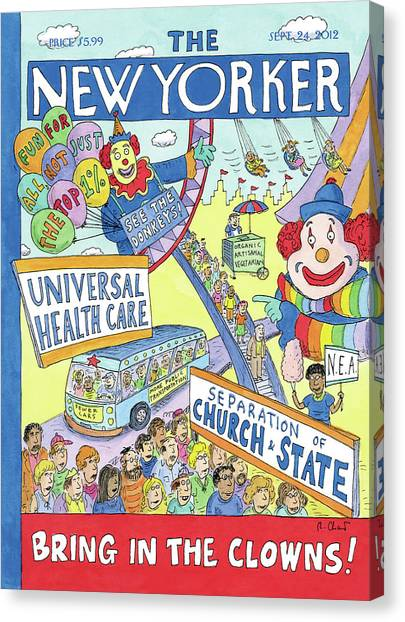Health Care Canvas Print - New Yorker September 24th, 2012 by Roz Chast