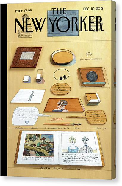 New Yorker December 10th, 2012 Canvas Print by Saul Steinberg