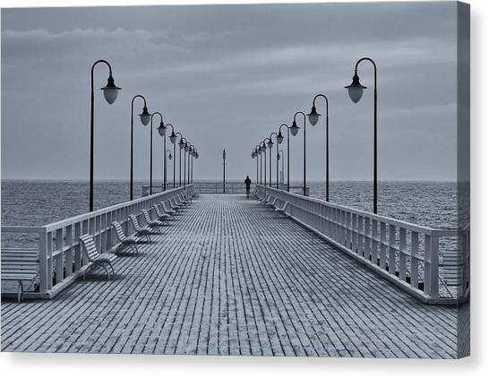 Pier Canvas Print - Untitled by Sergey Davydov