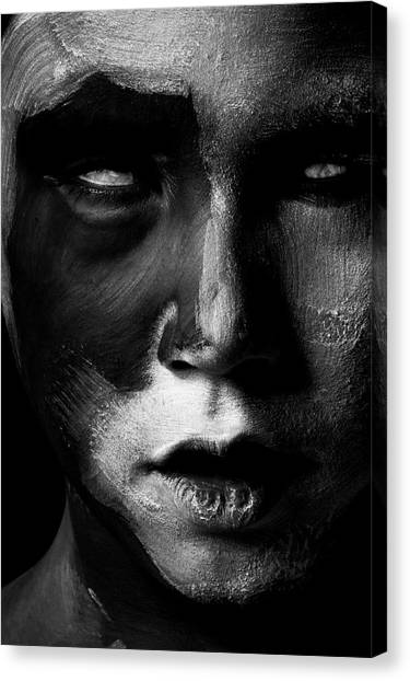 Nose Canvas Print - Untitled by Tim M?nnig