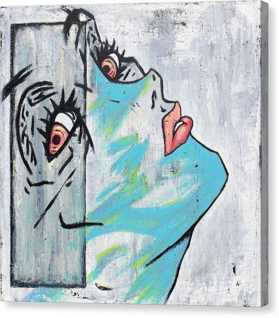 Final Fantasy Canvas Print - Untitled Woman by Matthew Martnick