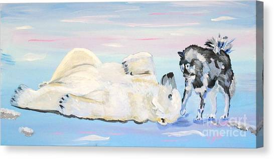 Unusual Buddies  Must Open Canvas Print
