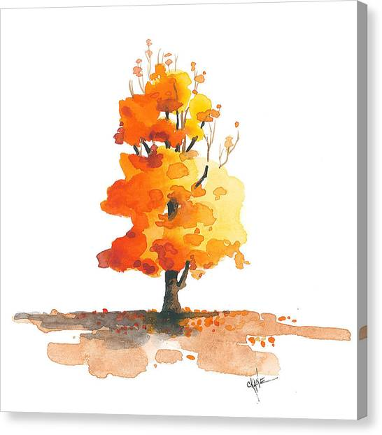 Tree Canvas Print - Unveiling by Christine Camp