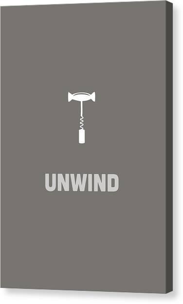 Canvas Print featuring the digital art Unwind by Nancy Ingersoll
