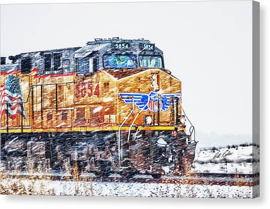 Up 5854 In The Snow Canvas Print