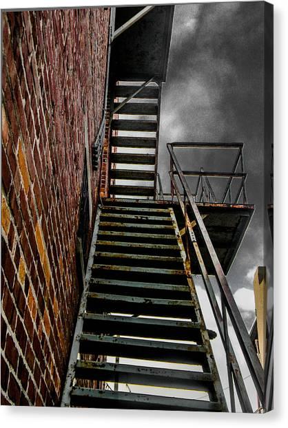 Up Fire Escape Canvas Print