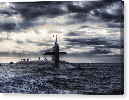 Submarine Canvas Print - Up For Air by Mountain Dreams