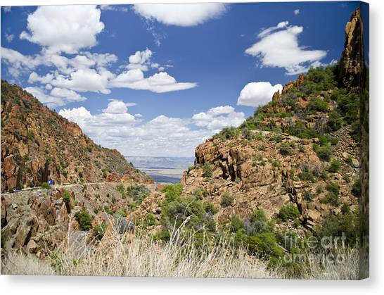 Up From Jerome Arizona Canvas Print by Maria Janicki