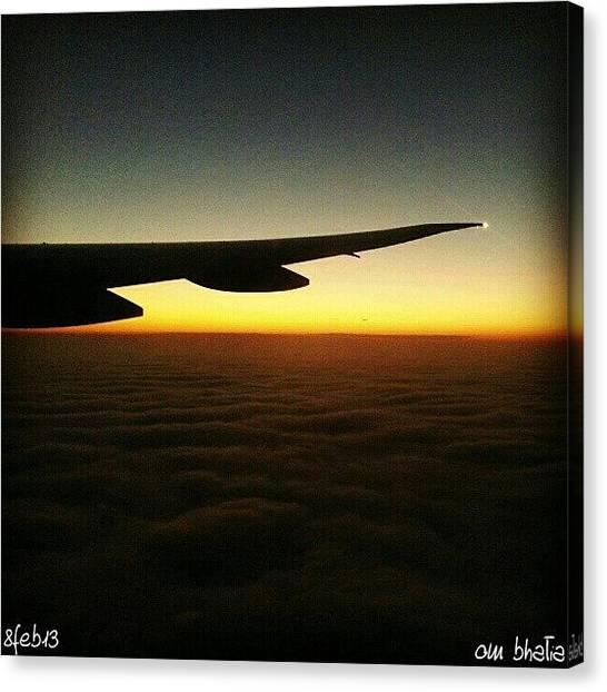 Om Canvas Print - Up In Heaven.... #sky #mumbai by Om Bhatia
