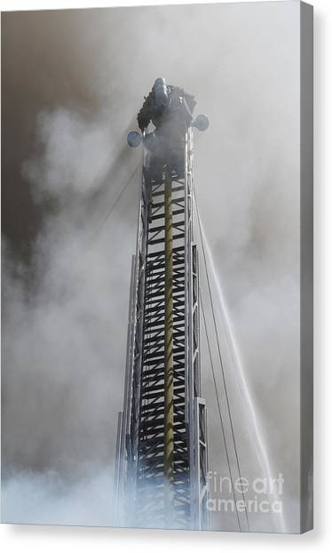 Up In Smoke Canvas Print by Dan Holm