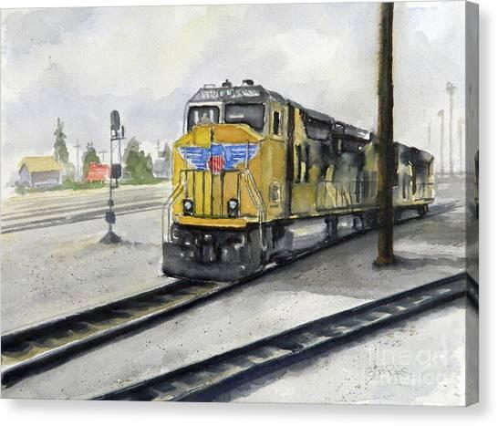 U.p. Locomotive Canvas Print