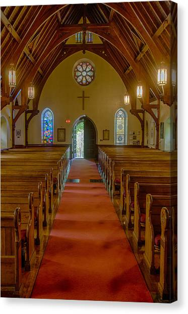 Up The Aisle Canvas Print