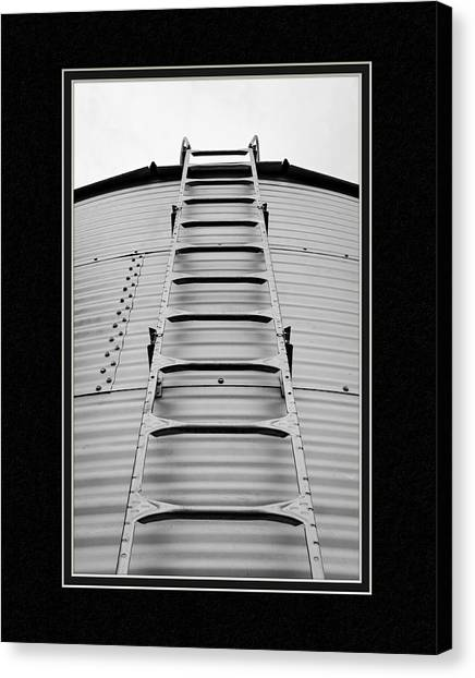 Matting Canvas Print - Up The Silo We Go by Charles Feagans