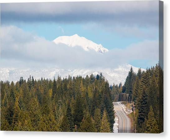 Up To The Mountain Canvas Print