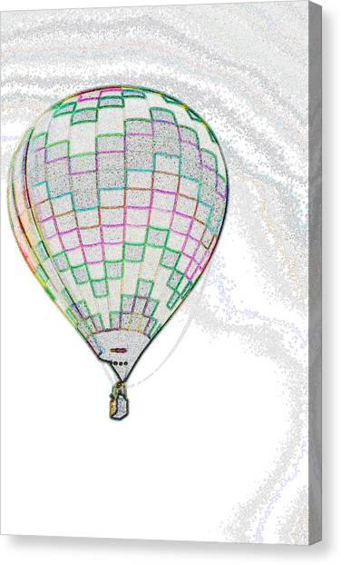 Up Up And Away - Sketch Canvas Print