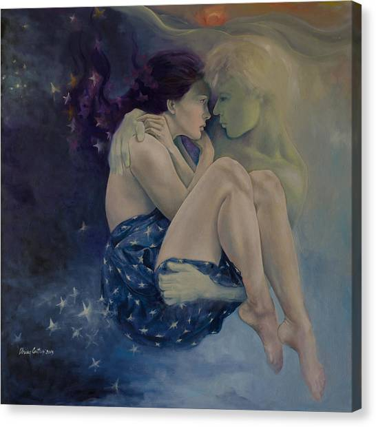 Celestial Canvas Print - Upon Infinity by Dorina  Costras