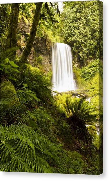 Upper Bridal Veil Falls 1 Canvas Print