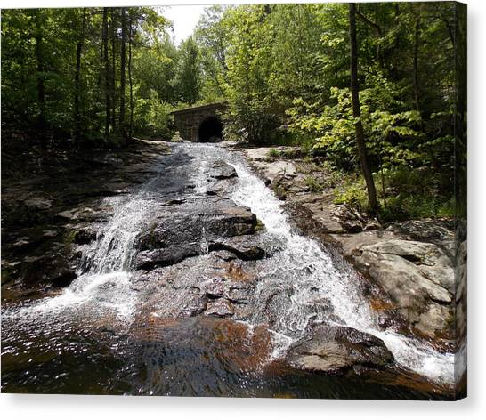 Upper Chapel Brook Falls Canvas Print