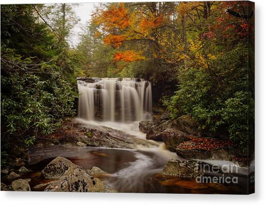 Upper Falls Waterfall On Big Run River  Canvas Print