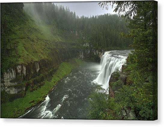 Upper Messa Falls Canvas Print
