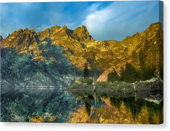 Mac Canvas Print - Upper Sardine Lake by Donni Mac