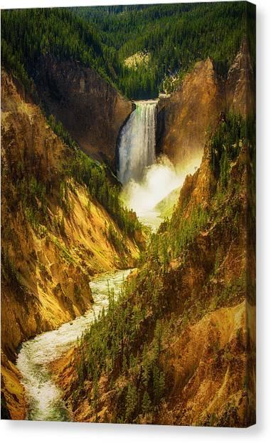 Upper Yellowstone Canvas Print by Stuart Deacon