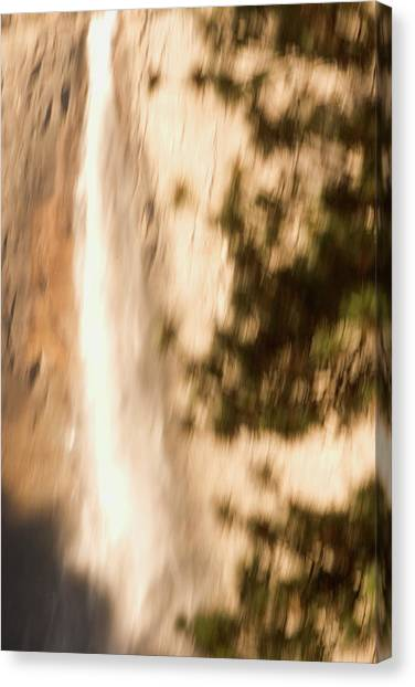 Canvas Print - Upper Yosemite Fall In Yosemite Valley by Phil Schermeister