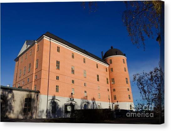 Uppsala Castle - Sweden - With Deep Blue Sky Canvas Print