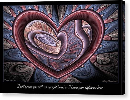 Upright Heart Canvas Print