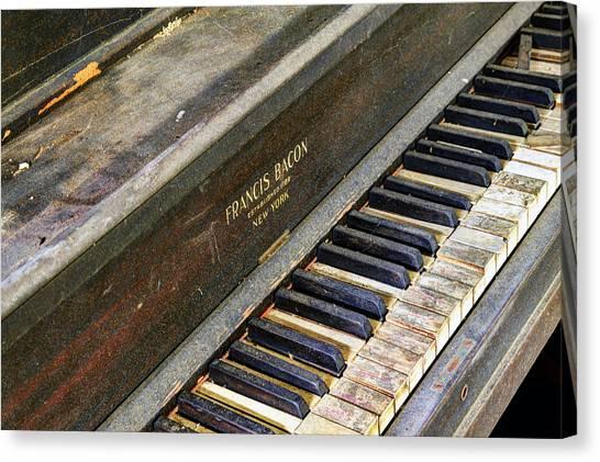 Upright Piano Canvas Print