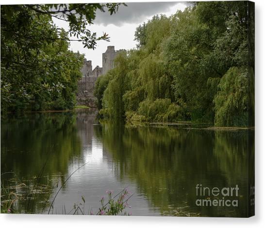 Upriver From Cahir Castle Canvas Print